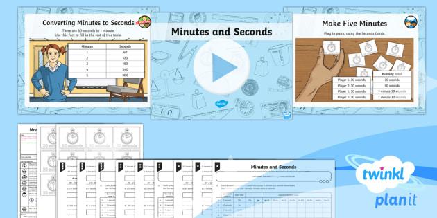 PlanIt Y3 Measurement Lesson Pack Time Units (1) - measurements, time, conversion, minutes, seconds, Measurement, measures, Y3, time, maths, convert, k