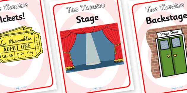 The Theatre Role Play Posters - theatre, role play, posters, theatre posters, role play posters, posters for the theatre, display posters, role, play