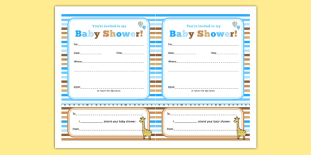 Baby Shower Invitation Blue Themed - baby shower, baby, shower, newborn, pregnancy, new parents, invitation
