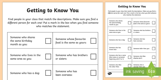 Getting to Know You Activity Sheet - End of Year,Back to School, Australia,bingo,getting to know you,ice breaker,activity,game,Australia,