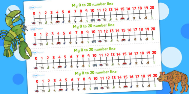 Number Lines 0-20 to Support Teaching on The Bad Tempered Ladybird - counting, count