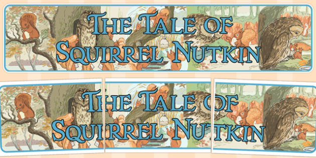 The Tale of Squirrel Nutkin Display Banner - squirrel nutkin
