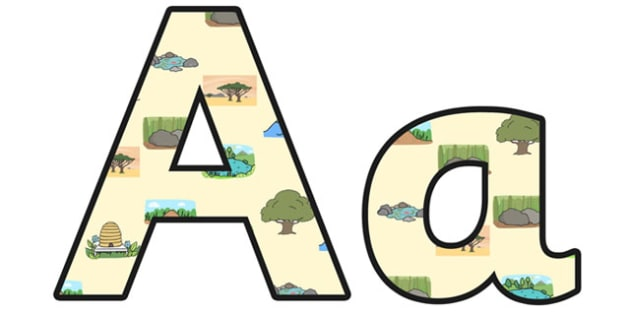 Habitats Lowercase Display Lettering - habitats, habitats display lettering, habitats display letters, habitats a-z lettering, habitats alphabet, ks2