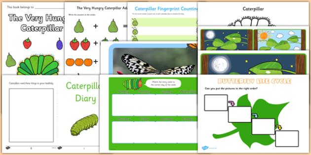 Top 10 Caterpillar Activity Pack to Support Teaching on The Very Hungry Caterpillar - top 10, caterpillar, activity, pack, top ten