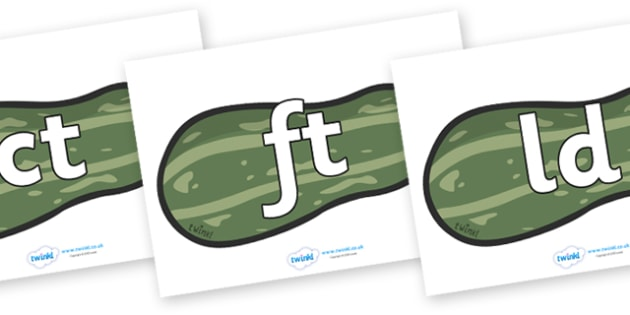 Final Letter Blends on Marrows - Final Letters, final letter, letter blend, letter blends, consonant, consonants, digraph, trigraph, literacy, alphabet, letters, foundation stage literacy