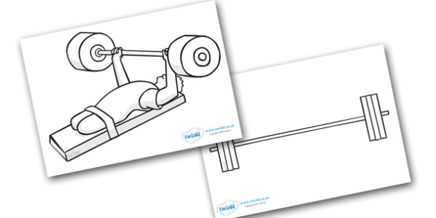The Paralympics Powerlifting Colouring Sheets - Powerlifting, weights, Paralympics, sports, wheelchair, visually impaired, colouring, fine motor skills, poster, worksheet, vines, A4, display, 2012, London, Olympics, events, medal, compete, Olympic Ga