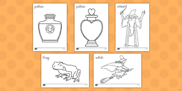 Magic Colouring Sheets - america, magic, coloring, sheets, color, halloween
