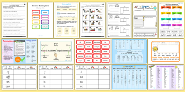 Teaching Assistant Spelling and Grammar Resource Pack - pack