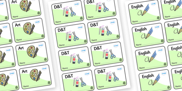 Willow Themed Editable Book Labels - Themed Book label, label, subject labels, exercise book, workbook labels, textbook labels