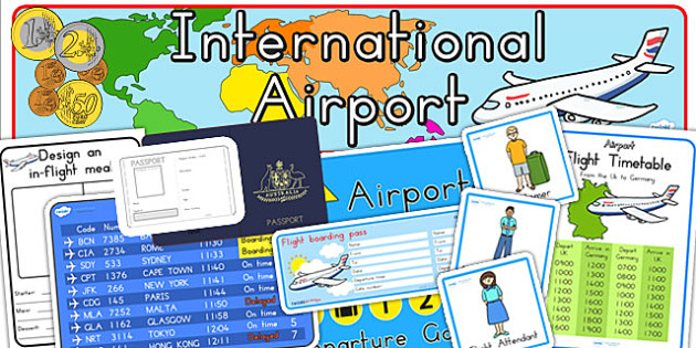 Airport Role Play Pack - airport, role play, acting, dress up