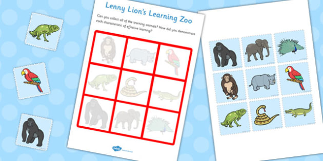 Learning Animals Chart - learning, animals, chart, activity