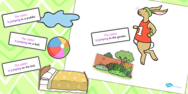 Rabbit Jumping Sentence Activity - sentence, activity, rabbit