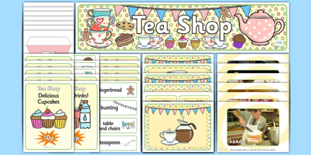 Tea Shop Role Play Pack-tea shop, role play, tea shop role play, role play pack, tea shop pack, shop role play, role play material, activities