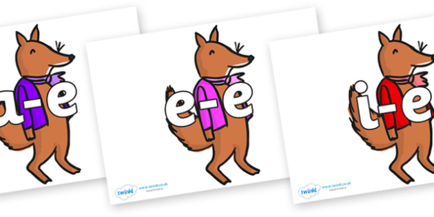 Modifying E Letters on Small Fox 2 to Support Teaching on Fantastic Mr Fox - Modifying E, letters, modify, Phase 5, Phase five, alternative spellings for phonemes, DfES letters and Sounds
