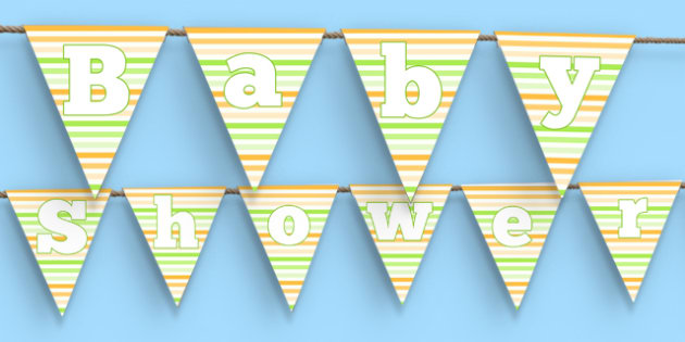 Baby Shower Bunting - baby shower, baby, shower, newborn, pregnancy, new parents, bunting