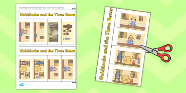 Goldilocks and Three Bears Story Writing Flap Book - flap book