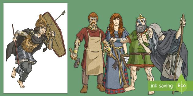 Irish Celtic Gods Large Display Cut-Out Pack-Irish