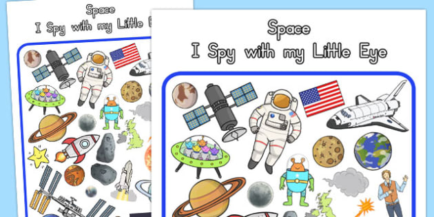 Space Themed I Spy With My Little Eye Activity - australia, space