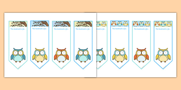 Superb Owl Themed Bookmarks - superb owl, themed, bookmarks, bookmark, book, mark, super bowl