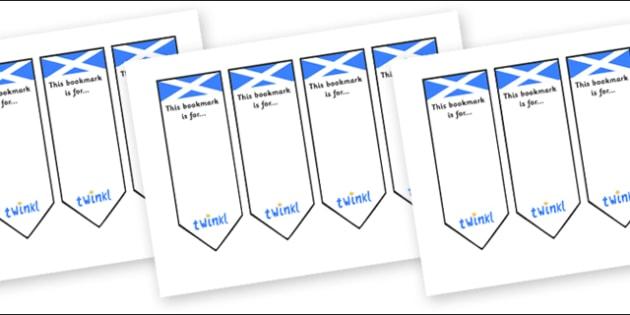 Scottish Bookmarks - Scotland, Scottish, flag, bunting, flags, Bookmark, bookmark template, gift,  present, book, reward, achievement, display, idea, Scottish Highlands