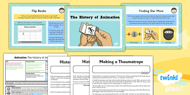 Computing: Animation: The History of Animation Year 4 Lesson Pack 1