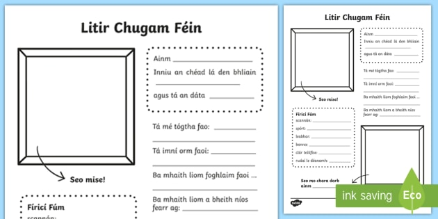 Litir Chugam F in Leathanach Oibre Ar Ais Ar Scoil Bliain – Orm Worksheet