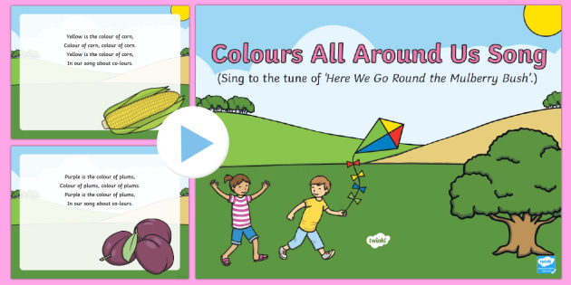 Colours All Around Us Song PowerPoint