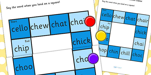 Initial 'ch' Production Game - ch, vowel, sound, sounds, games