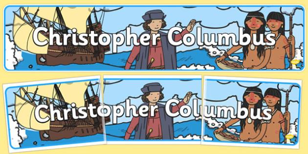 Christopher Columbus Display Banner - christopher columbus, display, banner, display banner, display header, themed banner, class banner, banner display