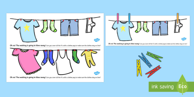 Fine Motor Skills Washing Line Peg Activity - fine motor skills, washing line, matching activity, matching, sorting, fine motor skills activities, activity