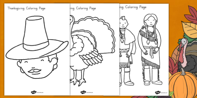 Thanksgiving Coloring Pages - color, worksheet, activity
