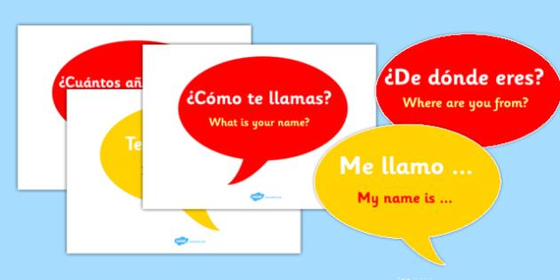 Spanish Basic Phrase Posters - MFL, Spanish, Modern Foreign Languages, basic phrases in Spanish, foundation, languages, display