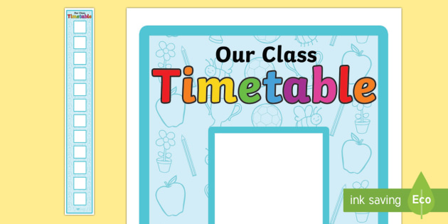 Vertical Visual Timetable Display with 12 Boxes - visual timetable