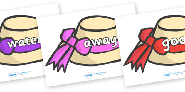 Next 200 Common Words on Summer Hats - Next 200 Common Words on  - DfES Letters and Sounds, Letters and Sounds, Letters and sounds words, Common words, 200 common words