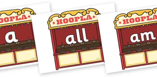 Foundation Stage 2 Keywords on Hoopla Stands - FS2, CLL, keywords, Communication language and literacy,  Display, Key words, high frequency words, foundation stage literacy, DfES Letters and Sounds, Letters and Sounds, spelling