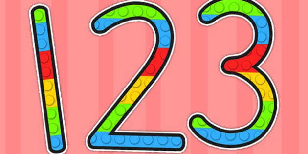 Building Brick Display Numbers - toys, display, number, numbers, lego