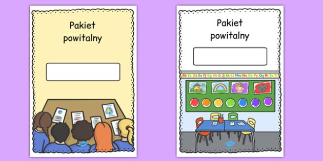 Okładka do Pakietu powitalnego (w pionie) po polsku