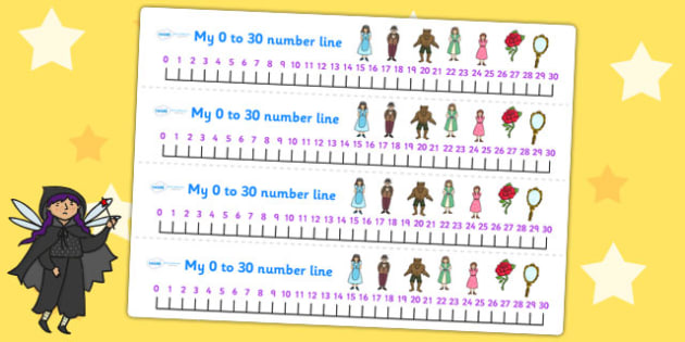Beauty and the Beast Number Lines 0 30 - counting aid, count