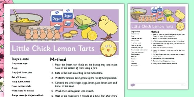 Little Chick Lemon Tarts Recipe - cooking, food, spring, eyfs, little chick, lemon tarts