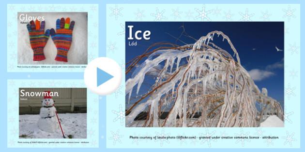 Winter Photo PowerPoint Polish Translation - polish, winter, photo, powerpoint, display