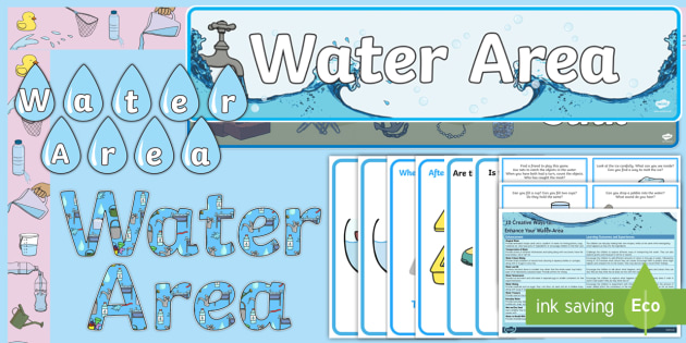 EYFS Water Area Classroom Set Up Pack - eyfs, water, area, set up