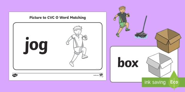 Workstation Pack: Picture to CVC (o) Word Matching Activity
