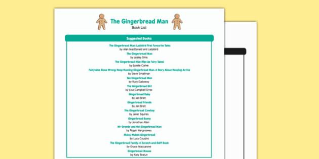 The Gingerbread Man Themed Book List - EYFS, Early years, stories, non-fiction, places, animals
