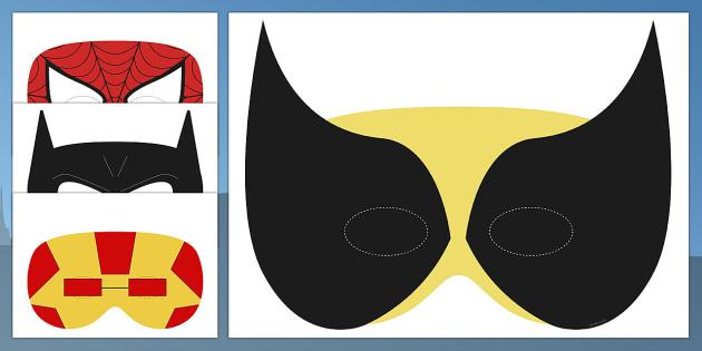 Superhero Masks - superhero, masks, role-play, activity, display