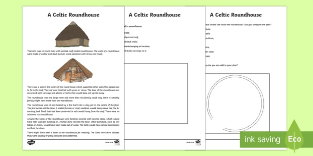A Celtic Roundhouse Activity Sheet-Scottish