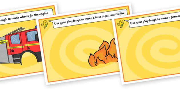 Fire Engine Playdough Mats - people who help us, fire engine playdough mat, playdough mats, fire engine playdough, playdough, play dough, play doh