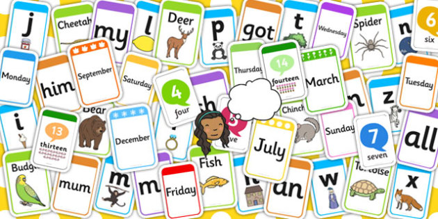 Complete Early Learning Flashcard Set - flashcards, visual, aid