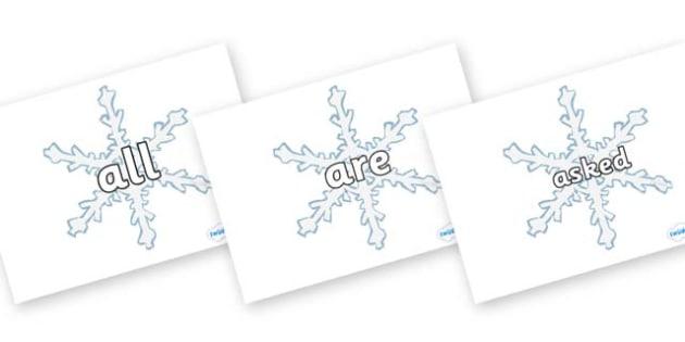 Words on Snowflakes - words, snowflakes, winter, snow, flakes