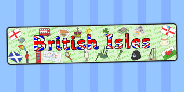 British Isles Display Banner - display, banner, british, isles