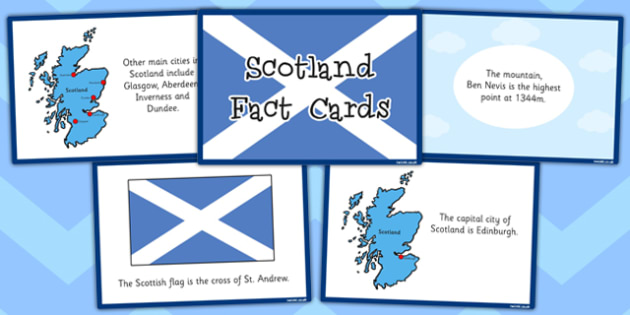 Our Country Scotland Fact Cards - our country, scotland, facts